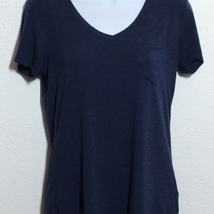 PrAna Blue Foundation V Neck Tee Shirt